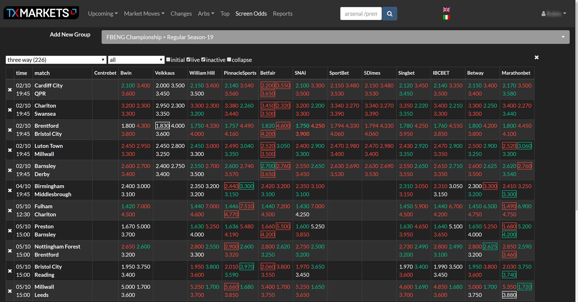 TX Markets OCI